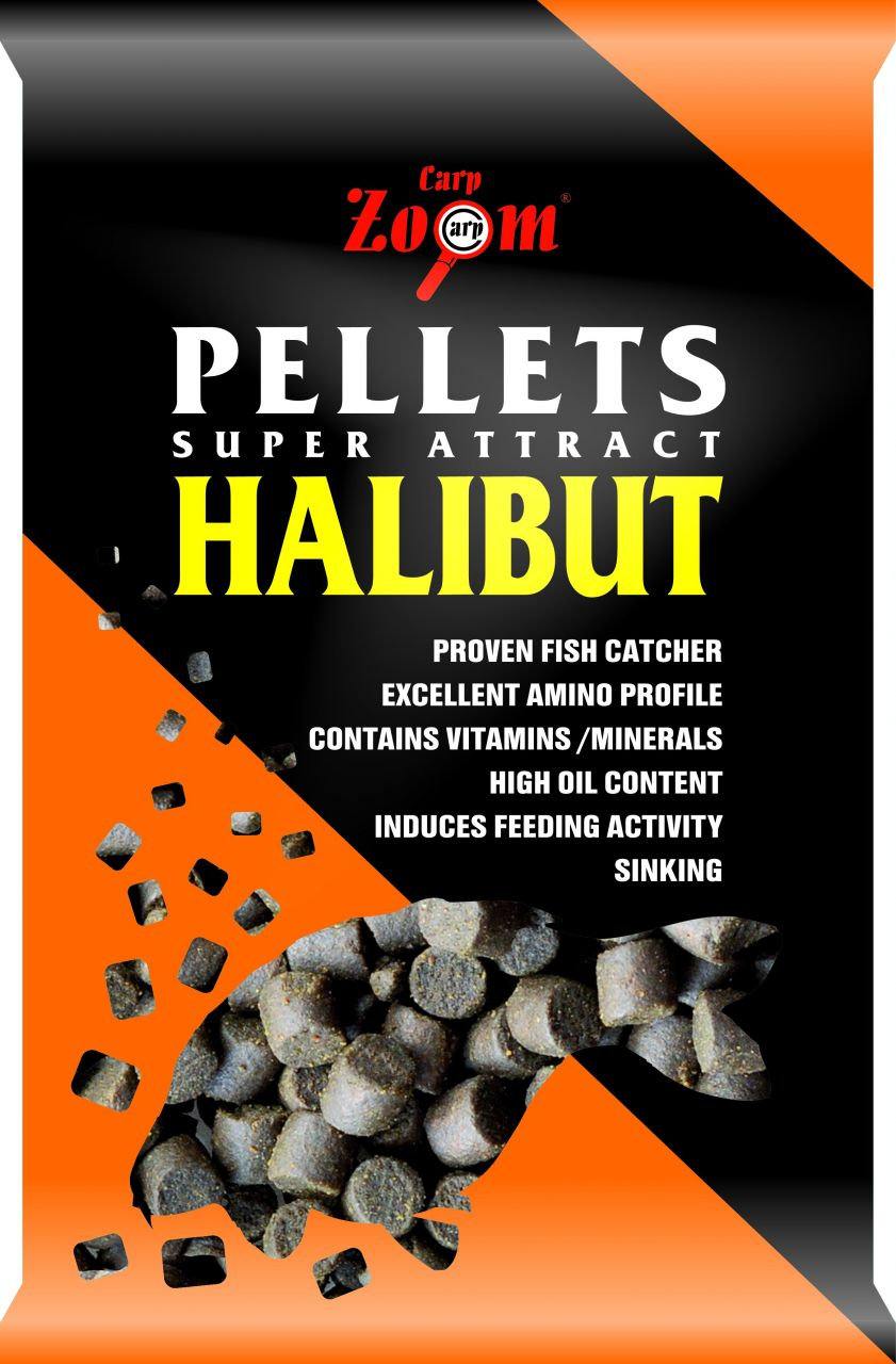 Carp Zoom Halibut etetőpellet 800gr